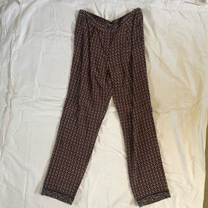 Tory Burch spring silk pant with elastic waist
